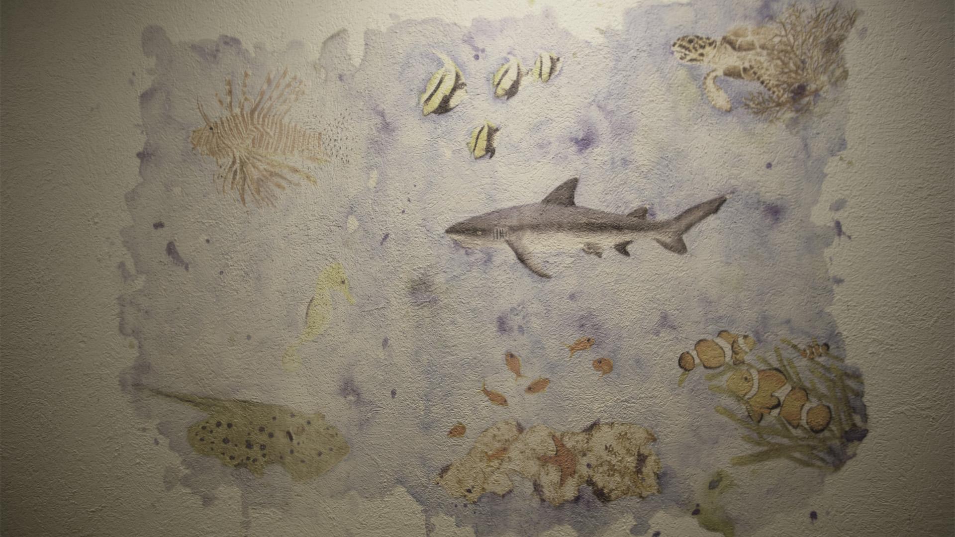 Aquarell, Gemälde, Digitalisierung, Wanddruck, Wanddtattoo